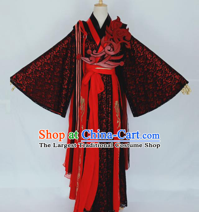 Chinese Traditional Drama Embroidered Dress Ancient Female Swordsman Costumes for Women
