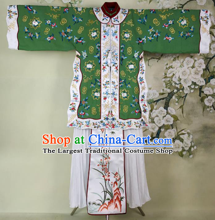 Chinese Traditional Embroidered Dress Ancient Qing Dynasty Young Mistress Costumes for Women