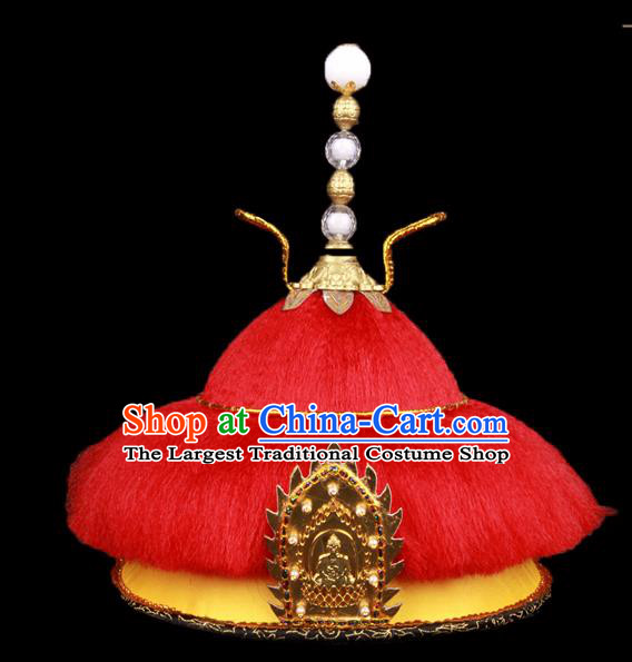 Chinese Traditional Qing Dynasty Emperor Hat Ancient Monarch Headwear for Men