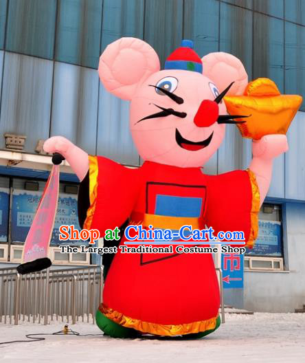 Large Chinese New Year Inflatable Red Rat of Wealth Models Inflatable Arches Archway