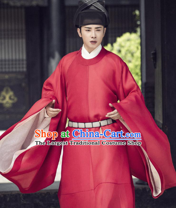 Chinese Ancient Song Dynasty Crown Prince Drama Royal Nirvana Xiao Dingquan Luo Jin Replica Costumes and Hat Complete Set