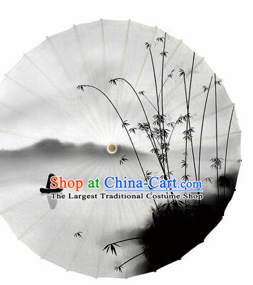 Chinese Traditional Ink Painting Bamboo Oil Paper Umbrella Artware Paper Umbrella Classical Dance Umbrella Handmade Umbrellas