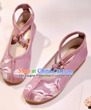 Asian Chinese Embroidered Pink Cloth Shoes Hanfu Shoes Traditional Opera Shoes Princess Shoes for Women