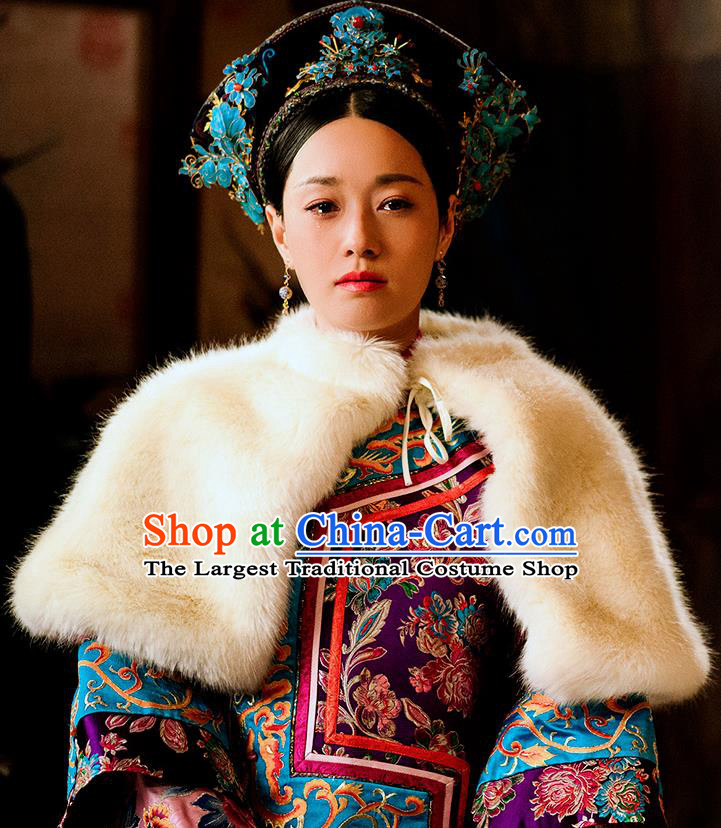 Chinese Drama Ancient Manchu Queen Dress Traditional Qing Dynasty Empress Replica Costumes and Headpiece for Women