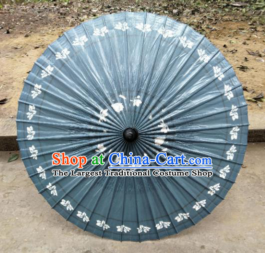 Chinese Traditional Printing Navy Oil Paper Umbrella Artware Paper Umbrella Classical Dance Umbrella Handmade Umbrellas