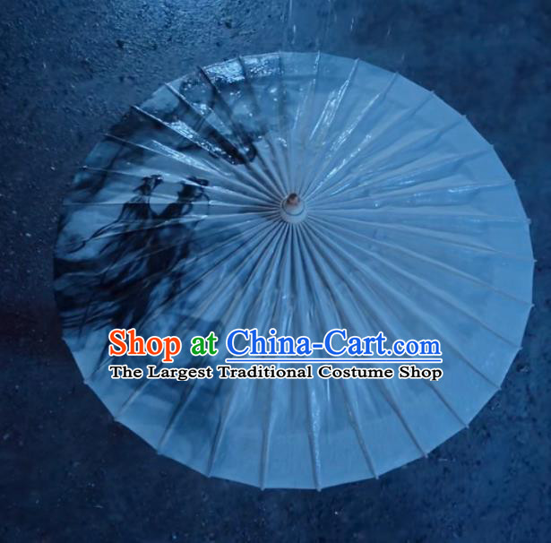 Chinese Traditional Swordsman Oil Paper Umbrella Artware Paper Umbrella Classical Dance Umbrella Handmade Umbrellas