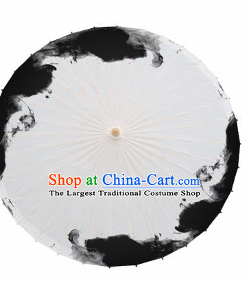 Chinese Traditional Ink Stained Oil Paper Umbrella Artware Paper Umbrella Classical Dance Umbrella Handmade Umbrellas