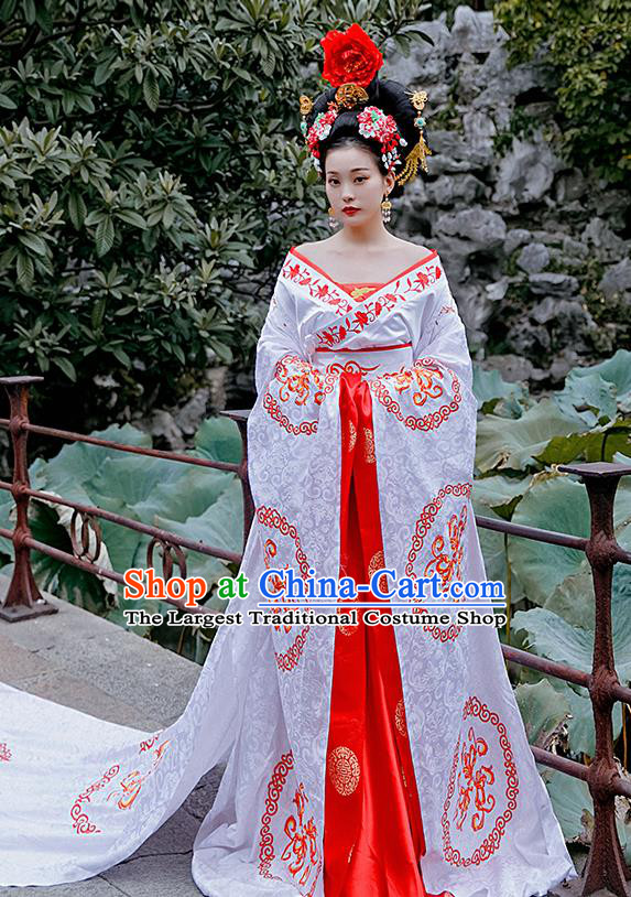 Chinese Drama Ancient Court Queen Costumes Traditional Tang Dynasty Imperial Empress Wu Zetian Hanfu Dress for Women