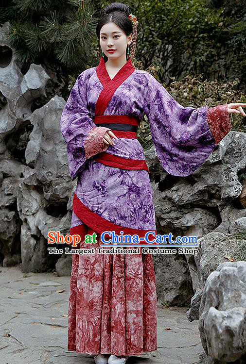 Chinese Drama Costumes Ancient Traditional Han Dynasty Nobility Lady Hanfu Dress for Women