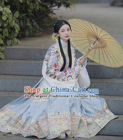 Chinese Drama Ancient Hanfu Blouse and Skirt Traditional Ming Dynasty Princess Costumes for Women