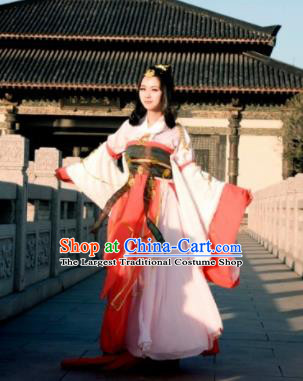 Chinese Traditional Cosplay Tang Dynasty Princess Costumes Ancient Female Swordsman Hanfu Dress for Women