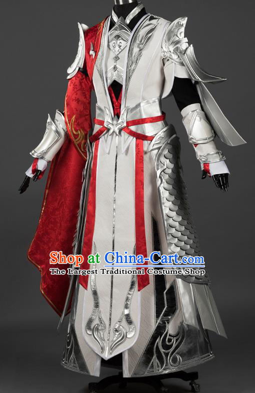 Chinese Traditional Cosplay General King Armor Costumes Ancient Swordsman Clothing for Men