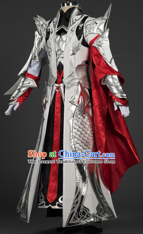 Chinese Traditional Cosplay General King Costumes Ancient Swordsman Young Knight Clothing for Men