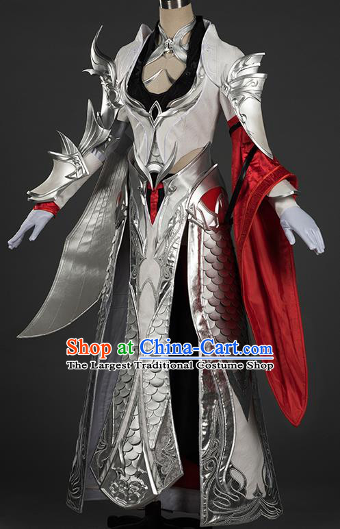 Chinese Traditional Cosplay Female General Costumes Ancient Swordsman Hanfu Dress for Women