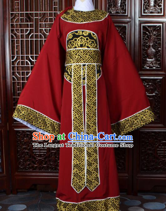 Chinese Traditional Beijing Opera Niche Red Costumes Peking Opera Scholar Clothing for Men