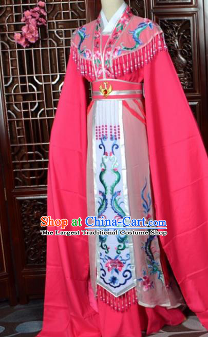 Chinese Traditional Beijing Opera Hua Tan Princess Rosy Dress Peking Opera Actress Costumes for Women