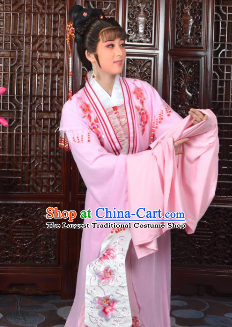 Chinese Traditional Beijing Opera Diva Pink Dress Peking Opera Princess Costumes for Women