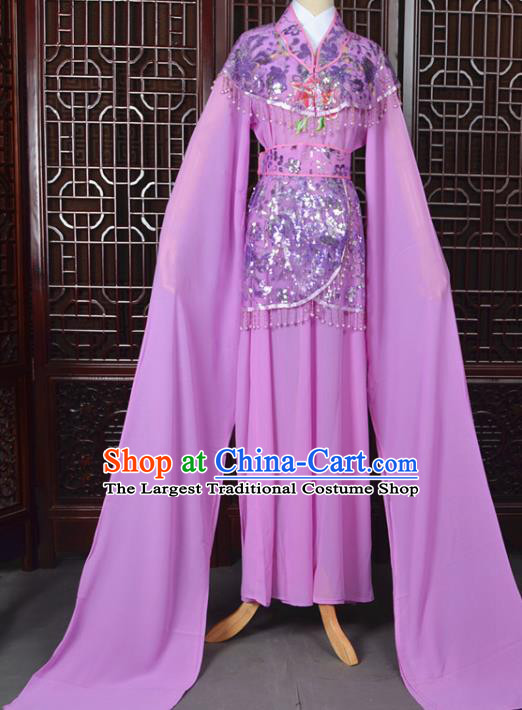 Chinese Traditional Beijing Opera Hua Dan Purple Dress Peking Opera Diva Costumes for Women