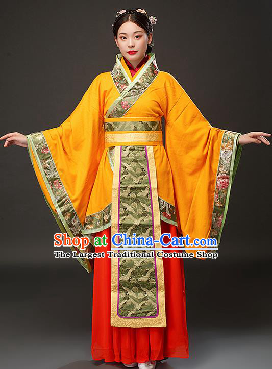 Chinese Traditional Spring and Autumn Period Court Queen Xi Shi Dress Ancient Empress Costumes for Women