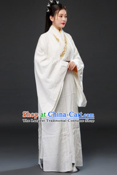 Chinese Traditional Three Kingdoms Period Beauty Xiao Qiao Dress Ancient Drama Court Lady Costumes for Women