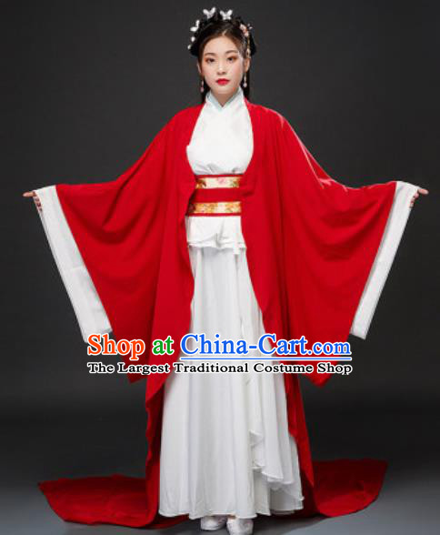 Chinese Traditional Court Lady Xiao Qiao Dress Ancient Drama Three Kingdoms Period Beauty Costumes for Women
