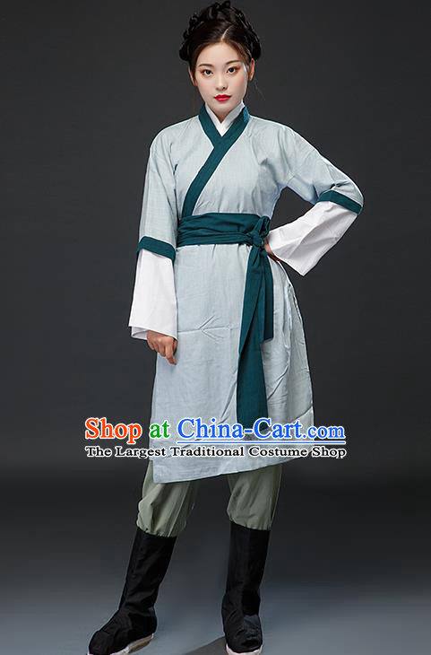 Chinese Traditional Ming Dynasty Swordswoman Dress Ancient Drama Female Civilian Costumes for Women