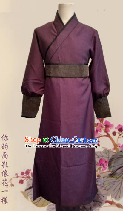 Chinese Ancient Ming Dynasty Civilian Clothing Traditional Ancient Swordsman Costumes for Men
