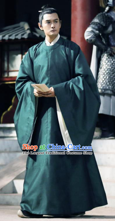 Traditional Chinese Song Dynasty Scholar Xu Changnian Clothing Ancient Drama Royal Nirvana Academy Costume for Men