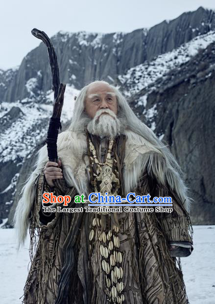 Chinese Historical Drama Ancient Swordsman Novoland Eagle Flag Lei Bicheng Replica Costumes and Headpiece for Men