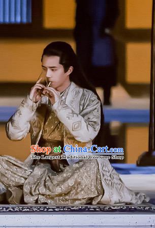 Chinese Ancient Crown Prince Lv Guichen Drama Novoland Eagle Flag Liu Haoran Replica Costumes for Men