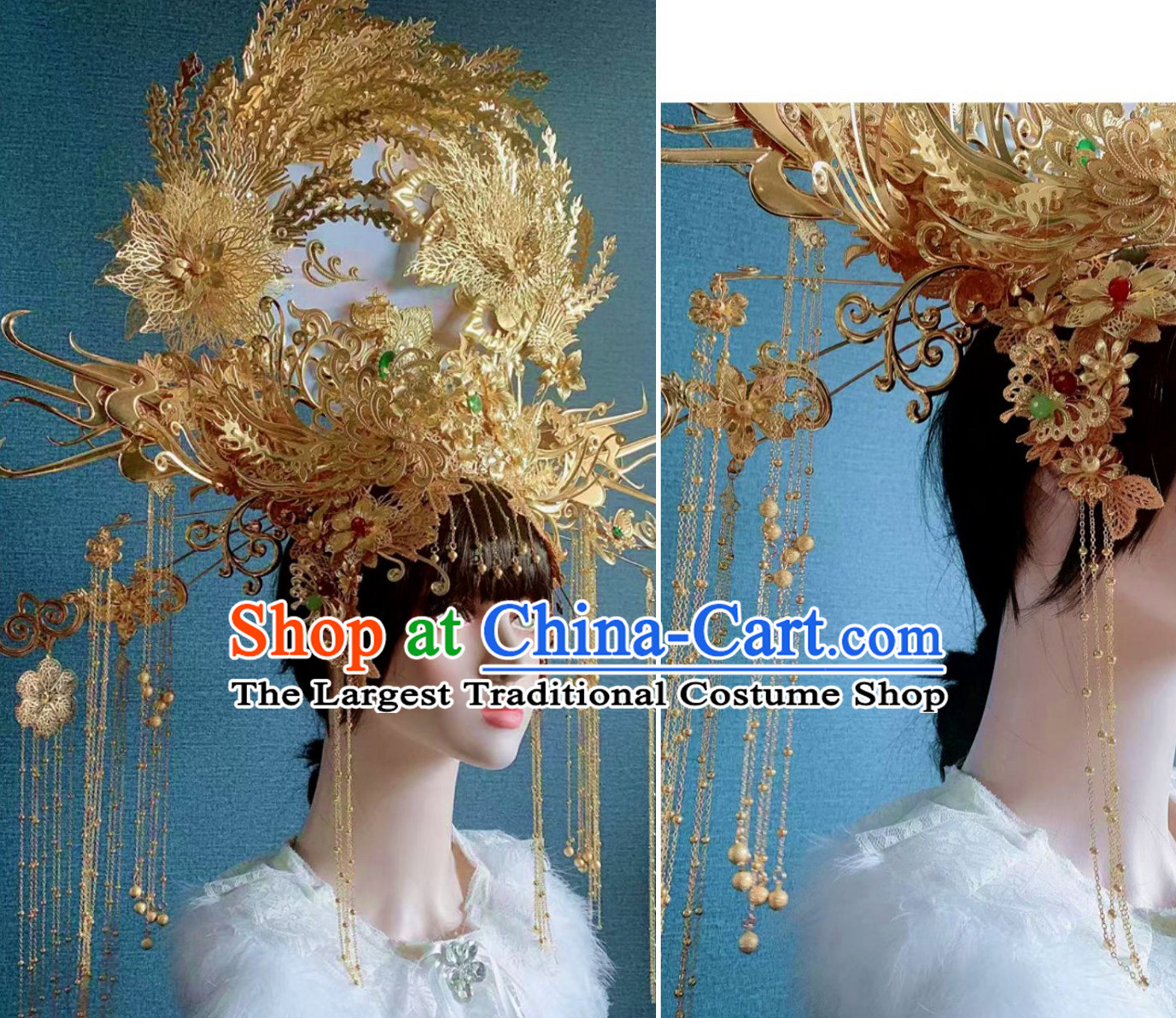 Top Royal Hair Ornaments Chinese Ancient Queen Hairstyle Hair Jewelry Hair Pieces