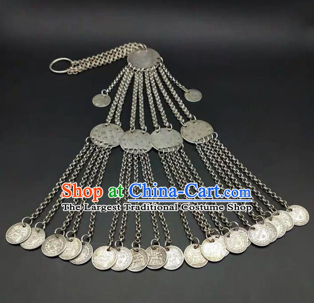 Chinese Handmade Traditional Miao Nationality Tassel Belt Ethnic Wedding Bride Waist Accessories for Women