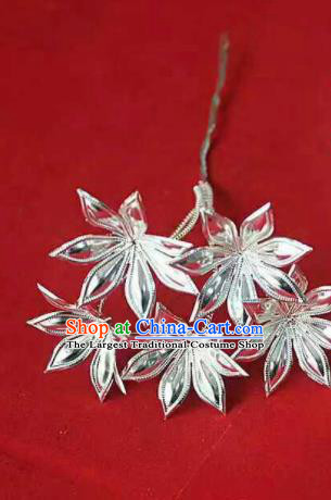 Chinese Traditional Handmade Miao Nationality Silver Hairpins Ethnic Wedding Hair Accessories for Women