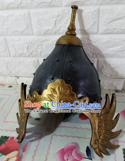 Chinese Handmade Traditional Song Dynasty Helmet Ancient General Hat for Men