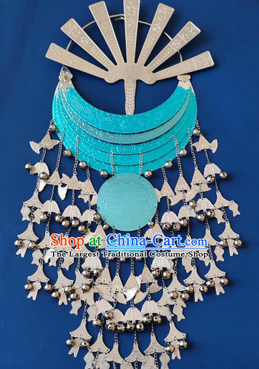 Chinese Handmade Traditional Li Nationality Hairpins and Tassel Necklace Ethnic Accessories for Women