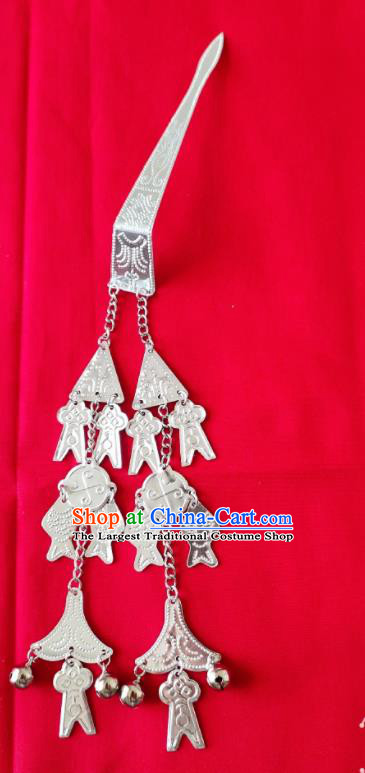Chinese Traditional Handmade Miao Nationality Tassel Hairpins Ethnic Wedding Hair Accessories for Women