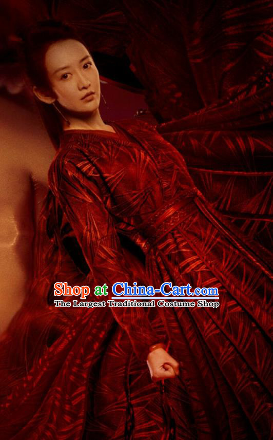 Chinese Ancient Female Knight Su Shunqing Dress Drama Novoland Eagle Flag Wang Ou Replica Costumes for Women