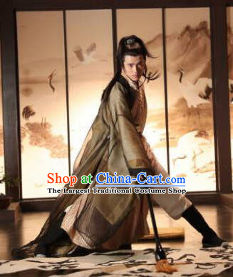 Chinese Ancient Swordsman Hanfu Clothing Drama Novoland Eagle Flag Prince Lv Guichen Replica Costumes for Men