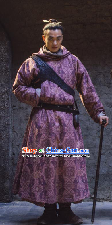 Chinese Ancient Tang Dynasty Swordsman Long Bo Drama the Longest Day in Chang An Zhou Yiwei Replica Costumes for Men