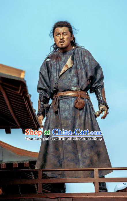 Chinese Ancient Tang Dynasty Hero Swordsman Zhang Xiaojing Drama the Longest Day in Chang An Lei Jiayin Replica Costumes Complete Set