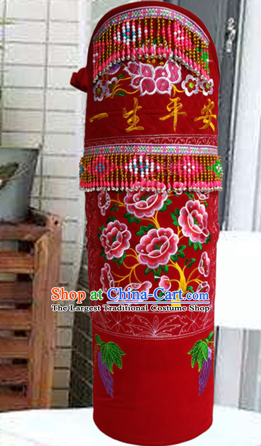 China Hmong Clothing Miao Tribe Traditional Baby Carriage Arts