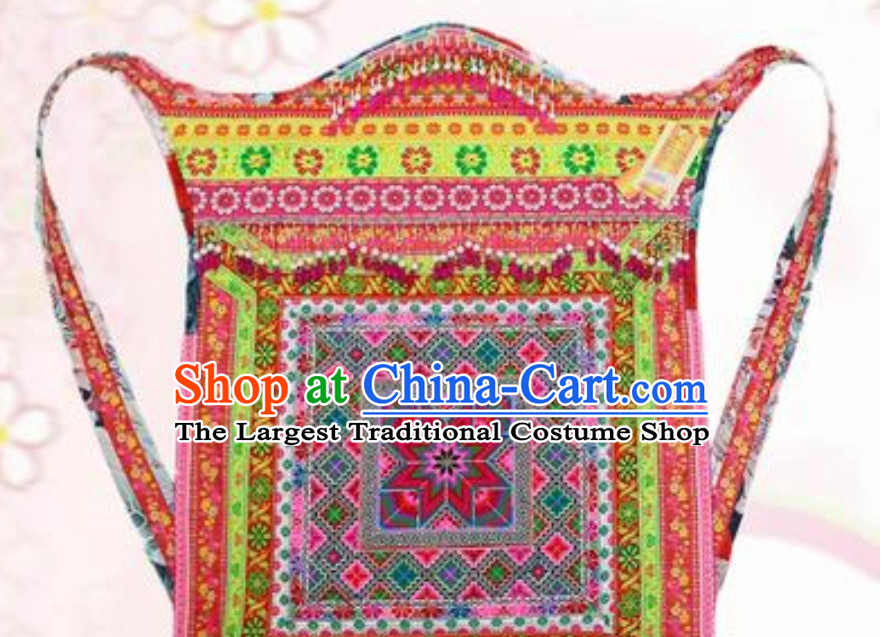 Hmong Clothing Miao Tribe Traditional Baby Carriage Collection
