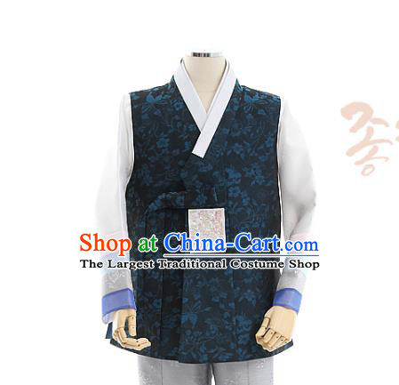 Asian Korea Men Vest Shirt and Pants Korean Wedding Fashion Traditional Apparels Hanbok Bridegroom Costumes