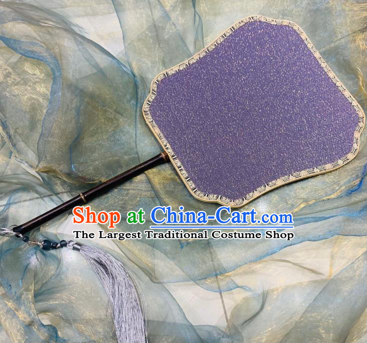 Chinese Classical Ancient Hanfu Purple Silk Fan Song Dynasty Imperial Concubine Palace Fans