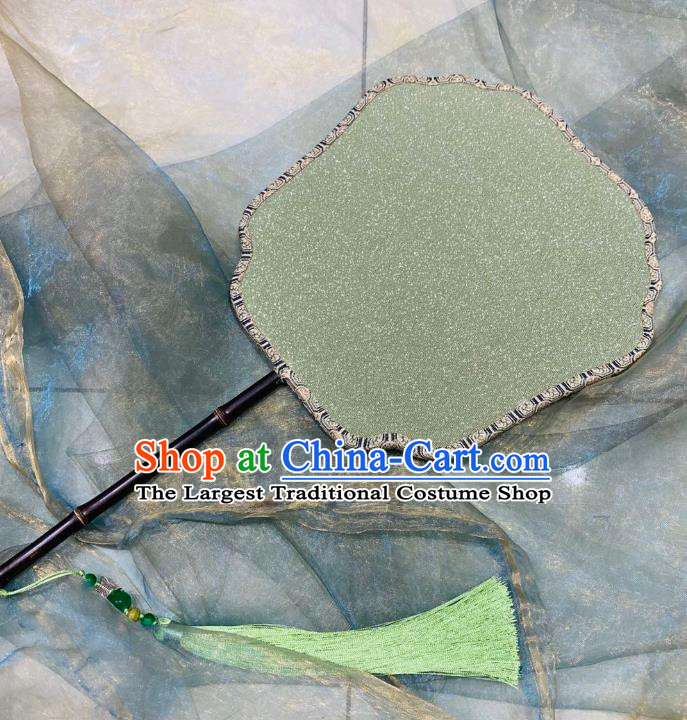 Chinese Classical Ancient Hanfu Green Silk Fan Song Dynasty Imperial Concubine Palace Fans
