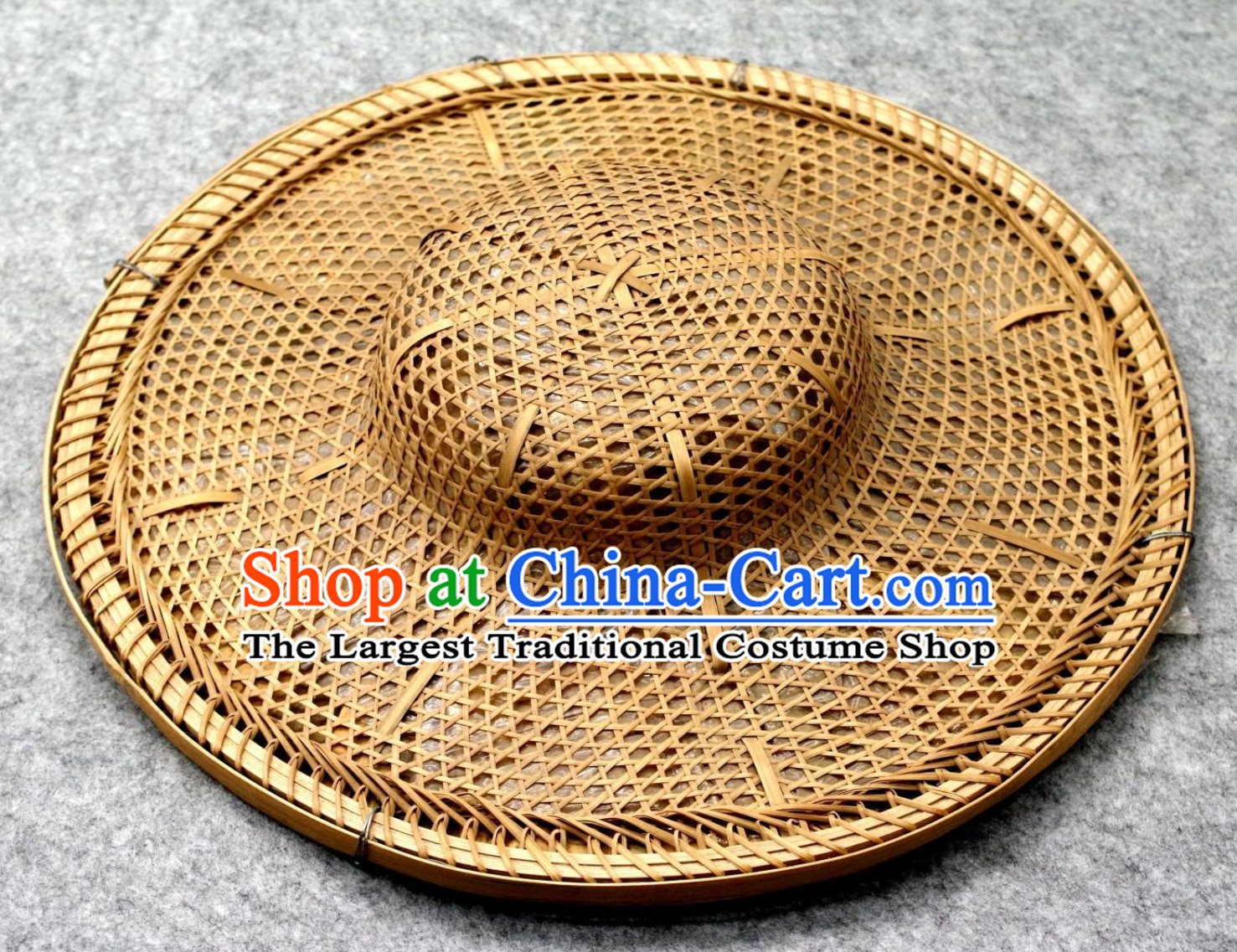 Top Chinese Classical Handmade Plain Straw Hat