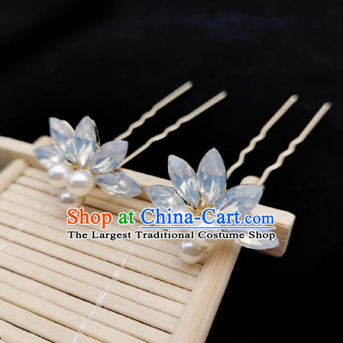 Chinese Song Dynasty Palace Lady Lotus Hair Stick Handmade Hair Accessories Hanfu Ancient Princess Hairpins