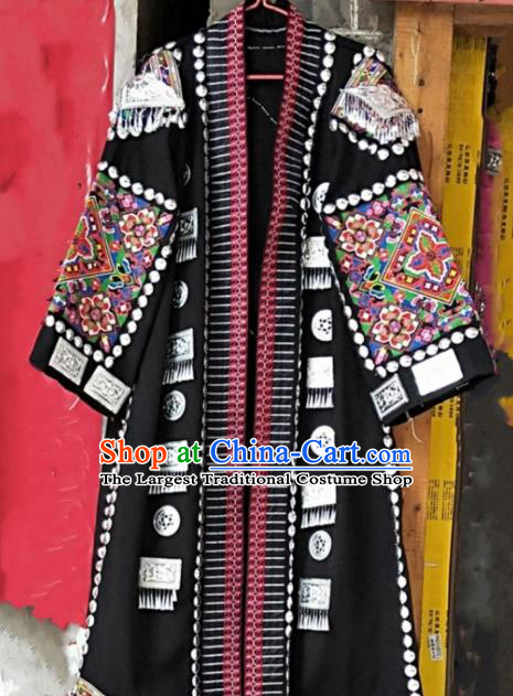 Chinese Dong Ethnic Costumes Quality Miao Nationality Clothing Men Embroidered Coat