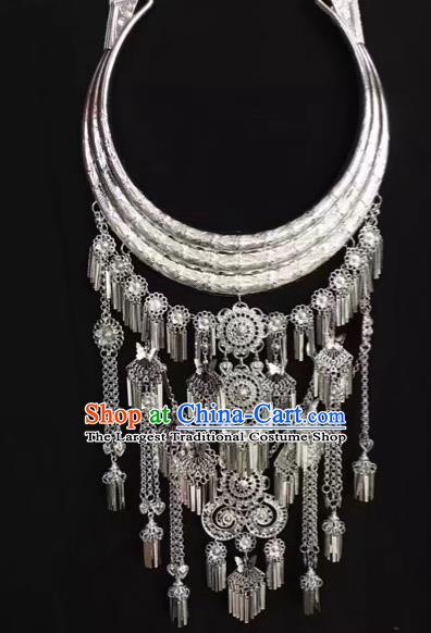 Chinese National Women Jewelry Handmade Necklet Yunnan Miao Minority Necklace Accessories for Women