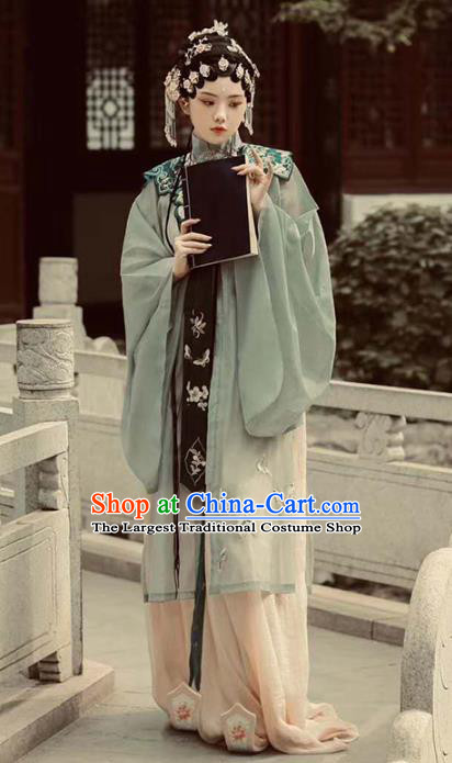 Chinese Ming Dynasty Nobility Beauty Costumes Ancient Beijing Opera Clothing and Headdress Full Set